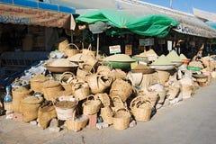 Cestas em Souk em Gabes, Tunísia Fotos de Stock
