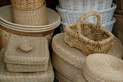Cestas en cestas Fotos de archivo