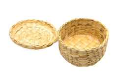 Cestas feitas do jacinto de água Fotografia de Stock