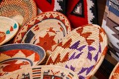 Cestas indianas americanas do artesanato Imagem de Stock
