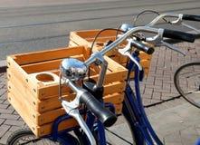 Cestas para las bicicletas Imagen de archivo libre de regalías