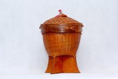 Cestas tejidas para el arroz Fotos de archivo libres de regalías