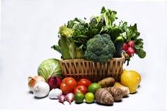 Cestas vegetales Foto de archivo libre de regalías