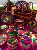 Cestas y artes mexicanos del artesano imagen de archivo libre de regalías