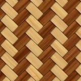 Cestería texturizada de madera decorativa abstracta Imagen de archivo libre de regalías