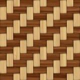 Cestería texturizada de madera decorativa abstracta Foto de archivo