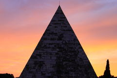Cestia Pyramid in Rome Royalty Free Stock Image