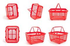 Cestini della spesa vuoti Fotografia Stock Libera da Diritti