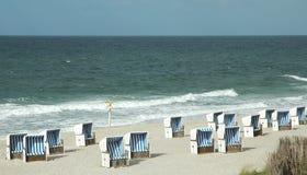 Cestini della spiaggia Fotografia Stock