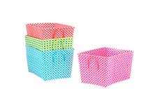 Cestini di nylon tessuti multicolori Fotografia Stock