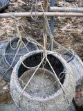 Cestini di pesca Immagini Stock