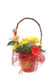 Cestino con i fiori Immagini Stock Libere da Diritti