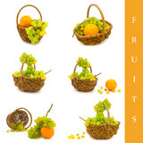 Cestino con la frutta Immagini Stock