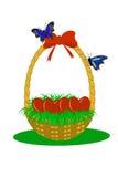 Cestino con le uova illustrazione di stock