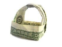 Cestino del dollaro Immagini Stock