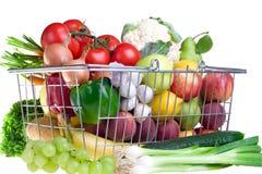 Cestino del Greengrocery Immagini Stock Libere da Diritti
