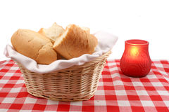 Cestino del pane Immagini Stock