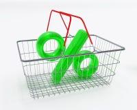 Cestino del supermercato Fotografie Stock Libere da Diritti