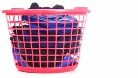 Cestino della lavanderia Fotografie Stock Libere da Diritti