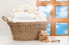 Cestino della lavanderia Fotografia Stock Libera da Diritti