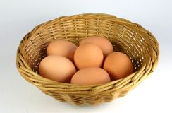Cestino delle uova Fotografia Stock Libera da Diritti