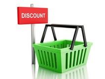 cestino di acquisto 3D Concetto online del negozio su fondo bianco Immagine Stock Libera da Diritti