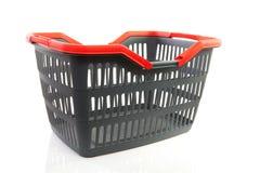 Cestino di acquisto grigio vuoto Fotografia Stock