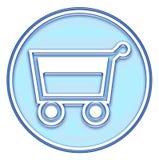 Cestino di acquisto, tasto del carrello Fotografia Stock