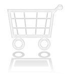 Cestino di acquisto, tasto del carrello Immagini Stock