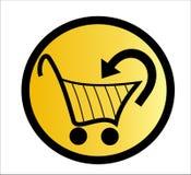 Cestino di acquisto - vettore Fotografie Stock