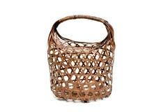 Cestino di bambù, sacchetto immagine stock