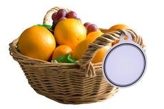 Cestino di frutta Immagini Stock