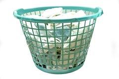 Cestino di lavanderia Immagini Stock Libere da Diritti