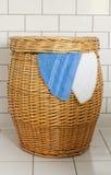 Cestino di lavanderia Fotografia Stock Libera da Diritti