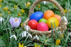 Cestino di Pasqua Fotografia Stock Libera da Diritti