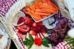 Cestino di picnic Immagine Stock Libera da Diritti