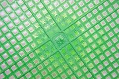Cestino di plastica verde Fotografia Stock Libera da Diritti