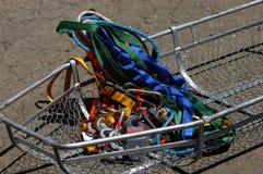 Cestino di Stokkes con attrezzature di soccorso immagini stock