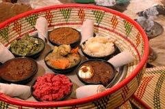 Cestino etiopico 2 dell'antipasto Immagini Stock Libere da Diritti