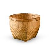 Cestino fatto da bambù Fotografie Stock Libere da Diritti