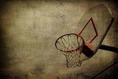 Cestino Grunge di pallacanestro fotografia stock libera da diritti
