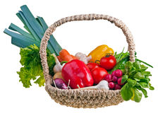 Cestino in pieno dei vegetablepotatoes Fotografia Stock Libera da Diritti