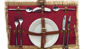 Cesto de la comida campestre Imágenes de archivo libres de regalías