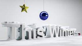 Cet hiver Image stock
