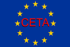 CETA - comprehensive economic and trade agreement on Euro Union Background Royalty Free Stock Photography