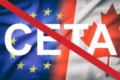 CETA concept. Stock Image