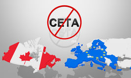 CETA has being stopped Stock Images