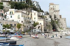Cetara amalfi coast. Cetara, beautiful Mediterranean village on Amalfi Coast Costiera Amalfitana in Campania, Italy unesco Royalty Free Stock Photo