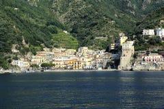 Cetara. On the Amalfi coast from sea Stock Image