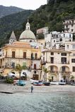 Cetara amalfi coast. Cetara, beautiful Mediterranean village on Amalfi Coast Costiera Amalfitana in Campania, Italy unesco Stock Photo